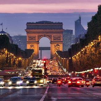 Paris Champs Elysees at night shutterstock 114479500 212